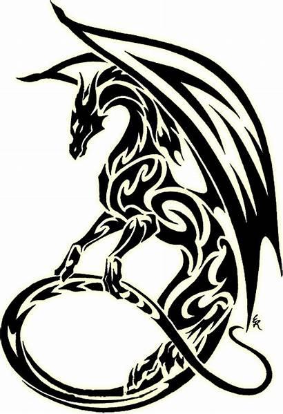 Dragon Tribal Designs Clipart Cliparts Tattoo Computer