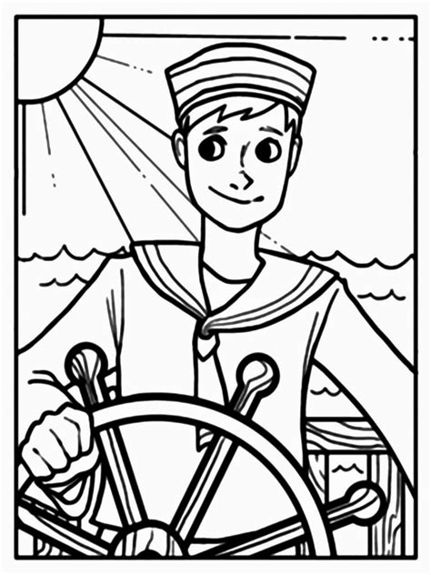 Coloring Picture by The Sailor Colouring Pages Picolour