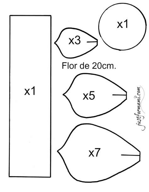 Molde de Flor de Papel 20 cm Just for Mami