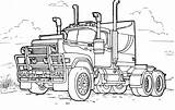 Coloring Truck Trucks Pages sketch template