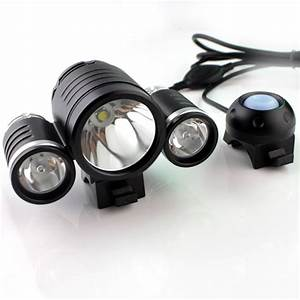 3000 Lumen Bicycle Light High Power 3000 Lumen Rechargeable Waterproof 3x Cree Led