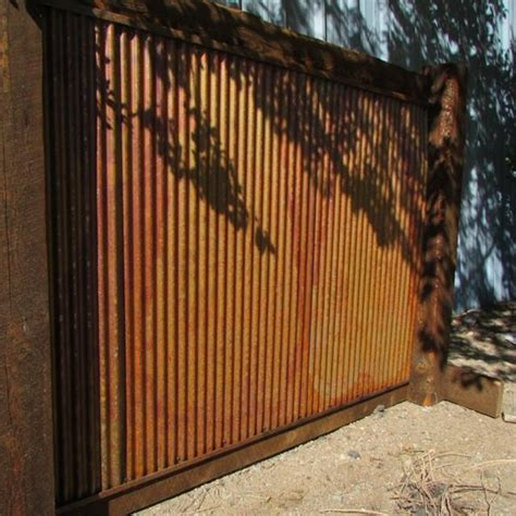 """For roofing, recommended minimum slope 7%. Large Steel Metal Wall Panels 26"""" x 72"""" - Corrugated, Rustic - DakotaTin By Rusher Products, LLC"""