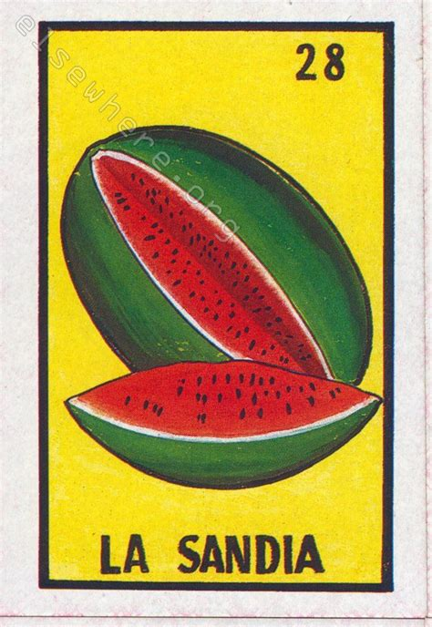 la sandia loteria loteria cards loteria vintage tarot