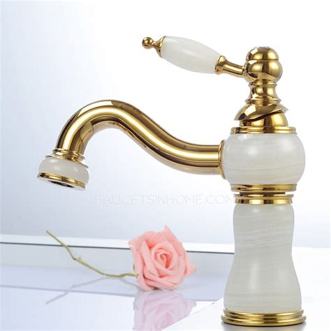 luxury bathroom faucets luxury white marble polished brass bathroom faucet single