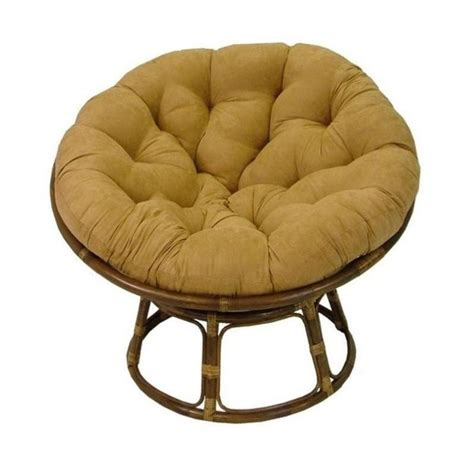 international caravan papasan 42 quot rattan w cushion accent