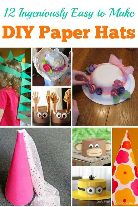 ingeniously easy   diy paper hats paper hat diy