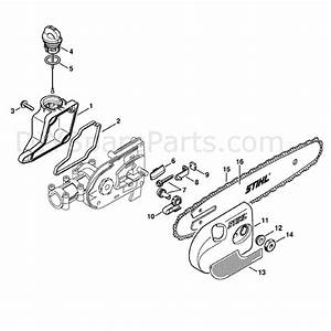 Stihl Ht 130 Pole Pruner  Ht130  Parts Diagram  Oil Tank