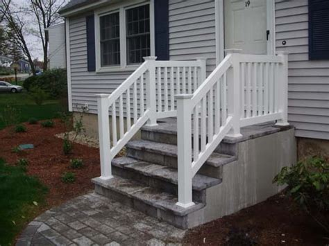 vinyl porch railing exterior stair railings vinyl deck stair railings adastra