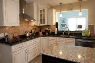 kitchen island with granite countertop new kitchen in newport news virginia has custom cabinets