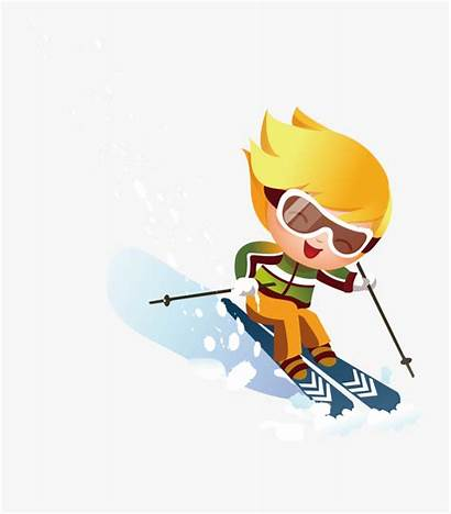 Clipart Skiing Clip Ski Down Hill Skier