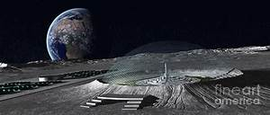 A Domed Crater Is Home To A Lunar City Digital Art by