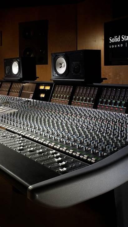 Studio Recording Background Wallpapers Tech Sound Equipment