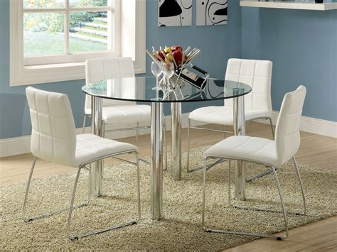 Glass Dining Table Sets by White Breakfast Table Set Dining Table Glass Top Dining