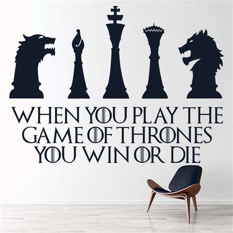 game  thrones win  die wall sticker game  thrones
