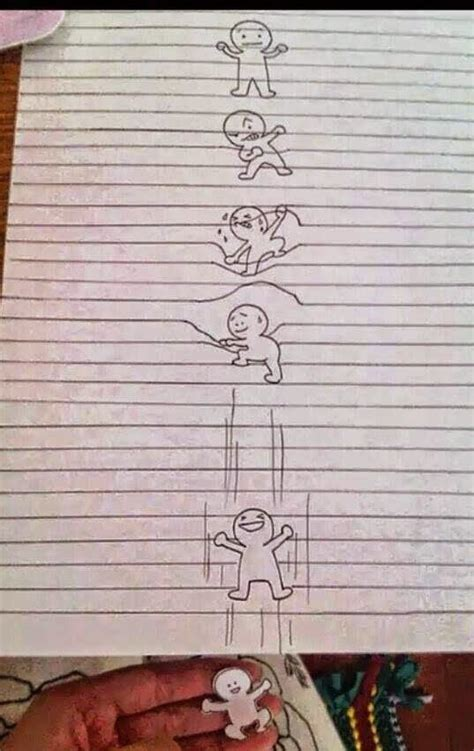 fun inventors optical illusion drawing  lined paper