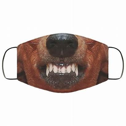 Badger Angry Face Aggressive Mask Dog Animals