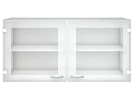 element haut de cuisine elément haut vitré cuisine l 98 2 cm casa coloris blanc