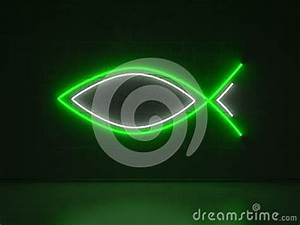 Christian Fish Series Neon Signs Royalty Free Stock