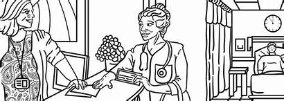 Coloring Nurse Patient Pages Nurses Chipping Week