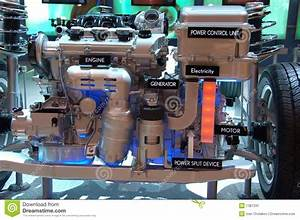 Hybrid Gas Electric Engine Stock Image  Image Of Diagram