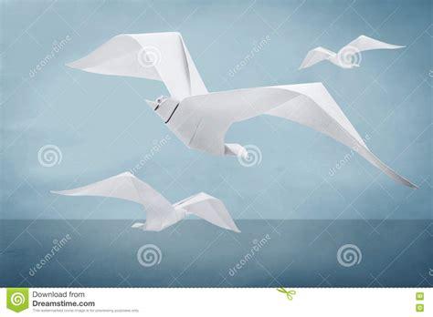 Il Gabbiano Uccello by Uccello Di Carta Gabbiano Di Origami Illustrazione Di