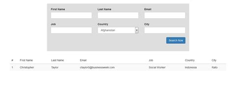 php how to make a search form work with fields