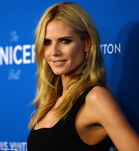 Heidi Klum Opts For Fitted Black Dress She Attends