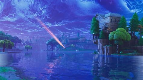 Fortnite With Meteors Background