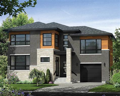 Home Design Level 106 : Multi-level Contemporary House Plan