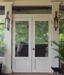 Flat, Paneled, Double, Screen, Doors
