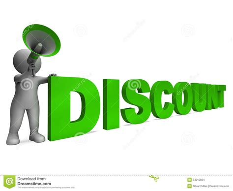 Discount Character Shows Sale Offer And Discounts Stock Illustration