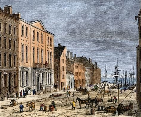 Wall Streets Tontine Coffee House In The Late 1700s Print