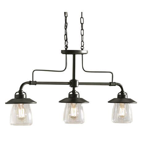 kitchen island lighting shop allen roth bristow 6 87 in w 3 light mission bronze
