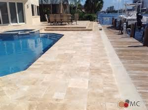 Travertine Pool Deck And Patio Remodeling Modern Pool Miami By M Amp C Pavers Inc
