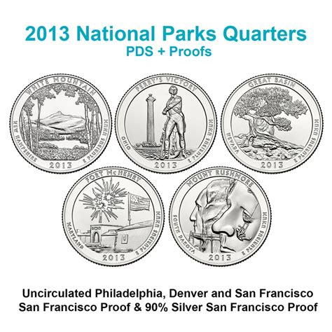 state quarter set pds proofs  coins
