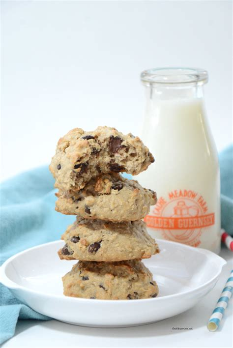 banana oatmeal chocolate chip cookies  idea room