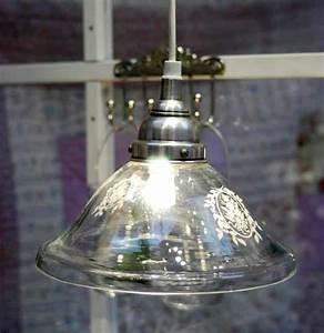 Shabby Chic Lampen : shabby chic lampe h ngelampe glas v ib laursen ~ Orissabook.com Haus und Dekorationen