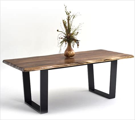 rustic modern dining table contemporary rustic wood furniture live edge tables
