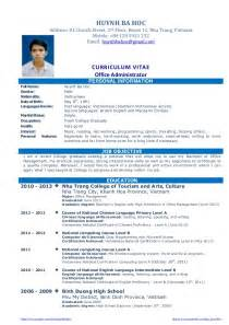 resume for mba pursuing student cv resume sle for fresh graduate of office administration