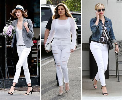 wear white jeans   fall  winter glamour
