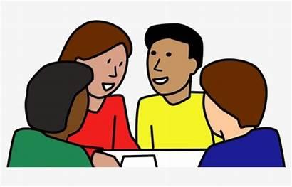 Clipart Student Discussion Students Cartoon Discuss Transparent
