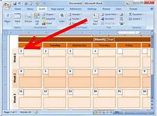 How to Create an Event Calendar in Microsoft Word 2008 7