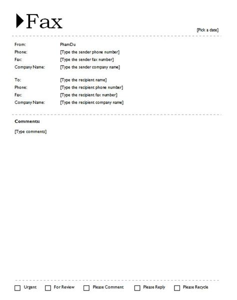printable fax cover sheet with origin theme