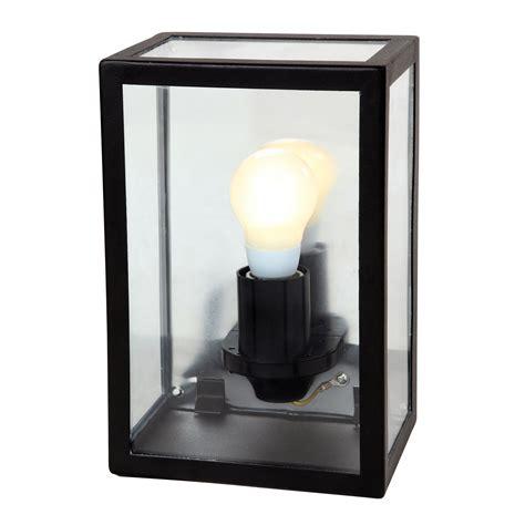 blooma gallina black mains powered external wall light departments diy at b q