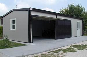 abris et garages isoles double peau polybox With garage en panneau sandwich