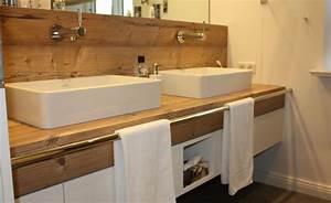 Waschtisch Holz Modern : waschtisch unterschrank mit integrierter wandverkleidung modern badezimmer hamburg von ~ Sanjose-hotels-ca.com Haus und Dekorationen