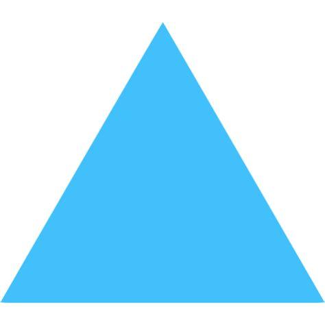 caribbean blue triangle icon  caribbean blue shape icons