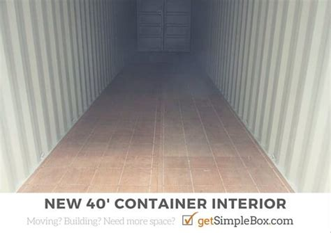 40 Foot Shipping Container To Rent Or Buy  Simple Box Storage