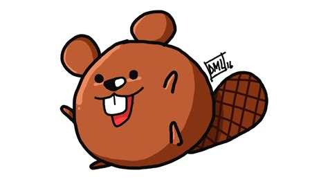 draw    draw  cute beaver draw doodle character