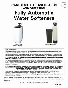 Star Water Systems Water Softener User Manual
